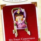2005 Hallmark My First 1st Christmas Girl Cat Stroller Ornament Childs Age Collection