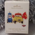 2008 Hallmark LUIGI & GUIDO RACE FANS! Disney's Pixar's Cars New Set of 2 Ornaments