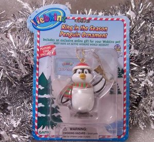 Webkinz Brand New Ring in the Season Penguin Ornament WE000417 Sealed Code
