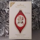 2008 Hallmark Waiting for Santa Norman Rockwell Glass Ornament Ltd Edition New