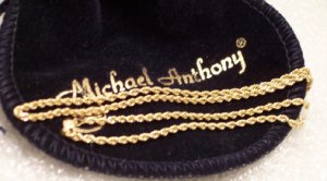 """Solid 14kt Gold at Scrape Prices 2mm Diamond Cut Rope Chain 18"""" ~ 2.3gwt Brand MA Made in USA"""