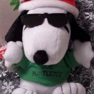2010 Hallmark Snoopy Joe Mistletoe Peanuts Techno Talks Plush New Smooch & Giggle