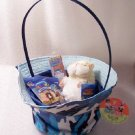 New Birthday or Easter Blue Camo Sun Hat Gift Basket Webkinz Mazin' Sunshine Hamster Cards Bookmark