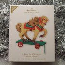 2010 Hallmark A Pony for Christmas Ltd Edition Repaint of #12 Series Premiere Event Ornament New