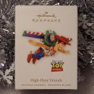 2010 Hallmark High Flyin' Friends Toy Story 3 Disney Pixar Woody Buzz Lightyear Ornament New