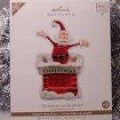 Hallmark Countdown to Christmas! Santa Chimney Calendar Ornament Magic Motion Activated Light