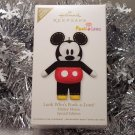 2011 Hallmark Look Who's Pook-A-Looz Mickey Mouse Special Ed Ltd Qty Ornament New