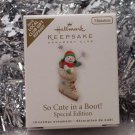 2010 Hallmark So Cute in a Boot! Local Club Repaint Special Edition Miniature