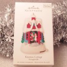 2010 Hallmark Kissmas Cottage 1st Series Kringleville Santa & Mrs Claus New Ornament