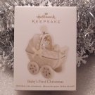 2011 Hallmark Baby&#39;s First 1st Christmas Porcelain Carriage Ornament New