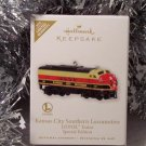 2010 Hallmark Limited Quantity KANSAS CITY SOUTHERN LOCOMOTIVE Lionel Trains Ornament
