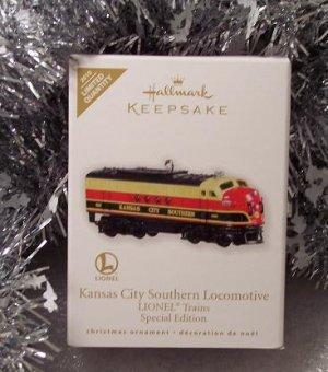 2010 Hallmark Limited Quantity KANSAS CITY SOUTHERN LOCOMOTIVE Lionel Trains Ornament
