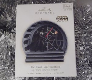 2008 Hallmark Final Confrontation Star Wars Return of the Jedi Magic Light Sound Ornament New