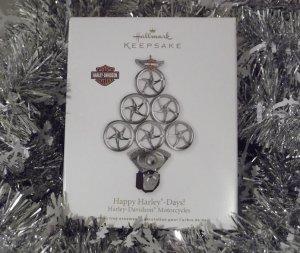 2011 Hallmark Happy Harley Days Harley Davidson Motorcycle Tree Ornament New