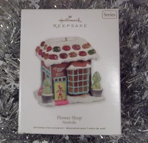 2011 Hallmark Flower Shop Noelville Series # 6 Gingerbread Town Ornament New