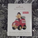 2011 Hallmark Little People Lil&#39; Movers Fire Truck Fisher Price Ornament New