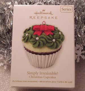2011 Hallmark Simply Irresistible! Christmas Cupcakes New Series # 2 Keepsake Ornament