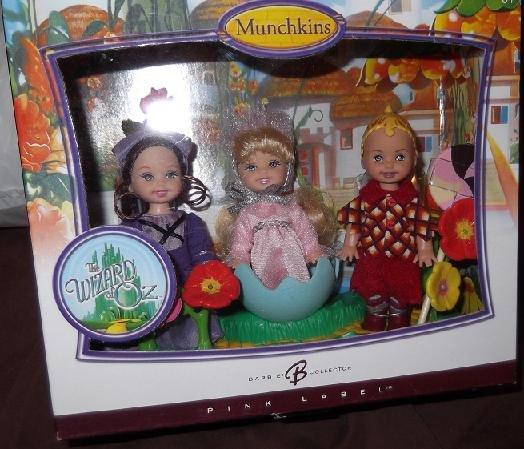 Barbie Pink 2007 Wizard of Oz Set 3 Munchkins Kelly & Tommy Dolls