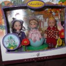 Barbie Pink 2007 Wizard of Oz Set 3 Munchkins Kelly & Tommy Dolls