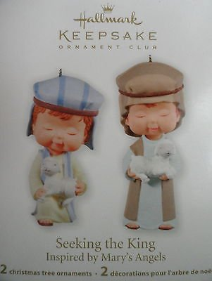 2011 Hallmark Club Exclusive Seeking the King Shepherds Precious Moments Porcelain New