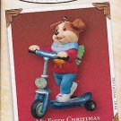 2005 Hallmark My 5th Fifth Christmas Boy Puppy Ornament Childs Age Collection Mint