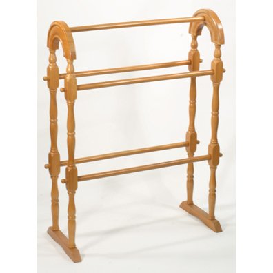 Gorgeous Wooden Oak Quilt Rack for Afghans & Blankets Also