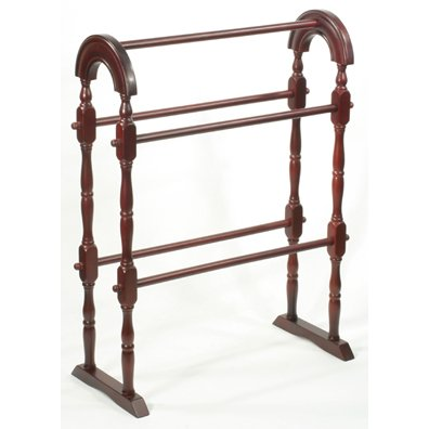 Mahogany Quilt Rack Great for Afghans and Blankets Also