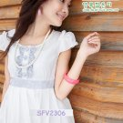 eBeauty*2306 - Vivicam -White Glamorous romance Korean Dress