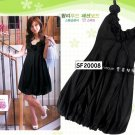 eBeauty*20008 - Black Korean Pretty Strapless Puffy Dress (with little blossoms décor on top)