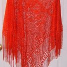 Sexy Red Lacy Poncho Shawl by N.B.C. One Size Free Shipping