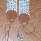 Free Shipping Woman's Urban Hippie / Gypsy Cloth Belt with Beaded Fringe Ties