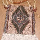 Free Ship Carpet Bags of America Great Earth Tone Colors Fringed Purse Urban Hippie