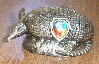 Tourist Trap Souvenir Pot Metal Armadillo from Texas