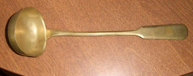 Antique Brass Ladle w/ Hallmark / G.P. Triangle Free Shipping