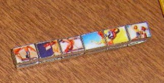 Free Shipping Retro  1950's Look Stretch Bracelet with Slides of Cowgirl Pinup Art