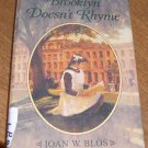 Free Shipping Brooklyn Doesn't Rhyme / Joan W. Bloss 1994 1st Edition / Polish Immigrants