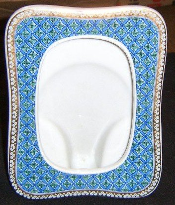 """Free Shipping Dynasty Blue & Gold Porcelain Picture Frame / Holds 3 1/4"""" by 4 3/4"""" Picture"""