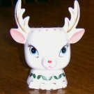 1962 Napco Head Vase Headvase Christmas Reindeer Rudolf / Free Shipping