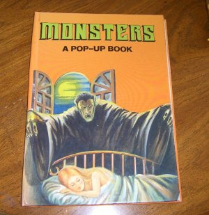 Vintage 1987 Monsters A Pop - Up Book . Hardcover Clean Free Shipping