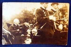 WW1 RPPC Woodrow Wilson & Georges Clemenceau In Car