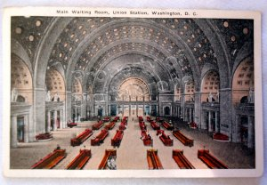Vintage Postcard of Union Station Passenger Concourse Washington DC