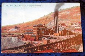Vintage Color Postcard Elkton Mine Elkton Colorado, Cripple Creek District