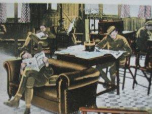 WW1 Photo Card Quiet Room Army Navy Head Quarters YMCA Strand London England