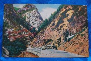 1951 Color Postcard California Zephyr Postmarked Grand Junction Colorado