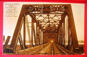 1911 Collotype Photo Postcard North Bank Railway Bridge Vancouver WA - Portland OR