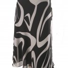 Jones New York NEW Black White Silk Skirt SZ 4 $119