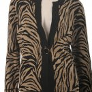 Jones New York NEW Tiger Print Sweater Size PM