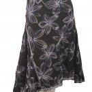 Studio M NEW Multi Black Floral Skirt Size 10 $79