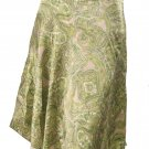 INC NEW Green Paisley Silk Skirt Size 4P $89