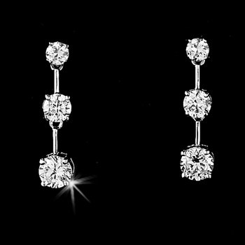 Our Future Silver Cubic Zirconia Dangle Earrings
